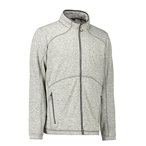 ID Herren Zip N Mix Melange Fleece Grau Meliert