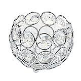 Sharplace 4 Stück Kristall Kugel Teelichthalter Kerzenständer Stimmungsleuchte