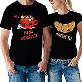 Coppia Tshirt San Valentino Tu Mi Completi, Anche tu - caffè & Cornetto - Idea Regalo per Il Tuo...