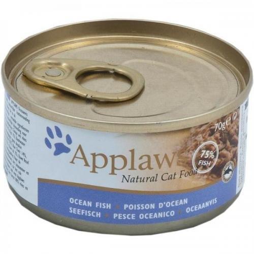 24 x Applaws Seefisch 70 g, Nassfutter, Katzenfutter
