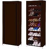 #7: Nayka 10 Layer Foldable Shoe Rack Organiser, Collapsible Shoe Cabinet
