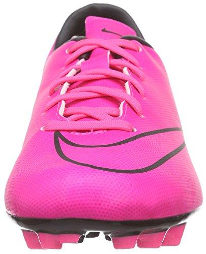 Nike  Junior Mercurial Victory V AG, Chaussures de football mixte enfant Rose - Pink (Hyper Pink/Hyper Pink-Blk-Blk)