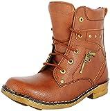 Best Mens Cowboy Boots - Hillsvog Men's Brown Synthetic Cowboy Boots,9 UK Review