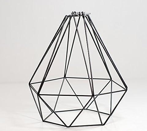 Lampenschirm für Pendelleuchten, Draht, Schwarz