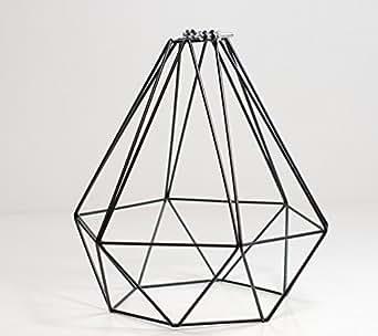 lampenschirm f r pendelleuchten draht schwarz beleuchtung. Black Bedroom Furniture Sets. Home Design Ideas