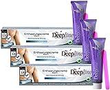 3 X 150ml Deepline Enthaarungscreme speziell für Männer - Enthaarungsmittel für den Mann - sanfte gründliche Enthaarung for men - auch für den Intim-Bereich!