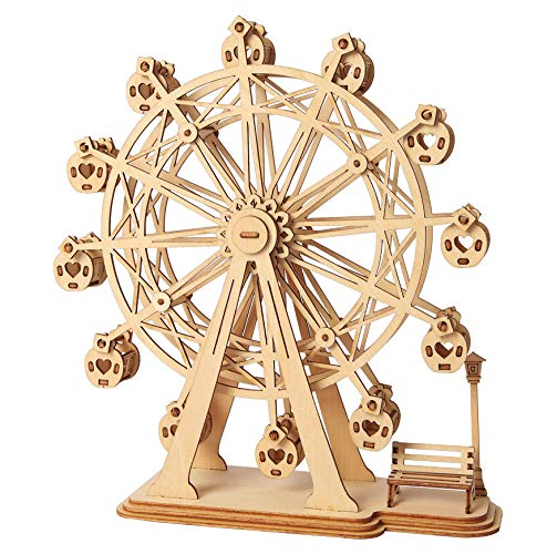 Wood Craft 3D DIY Model Building Kits (Ferris Wheel)