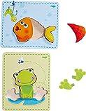 Haba 300530 - Holzpuzzle Frosch und Fisch