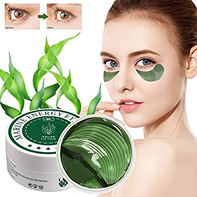 Seaweed Collagen Eye mask,Under Eye Mask,Eye Treatment Mask,Anti Aging Eye Mask, Anti Wrinkle Eye pads,Remove Puffy Eye Bags And Dark Circles,with Collagen, Hyaluronic Acid (30 Pairs)