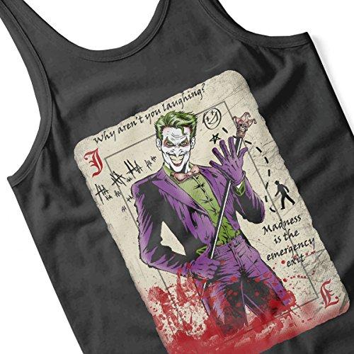 Dark Knight Joker Master Criminal Men's Vest Black