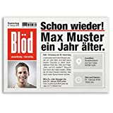 (20 x) Einladungskarten Geburtstag Zeitung Nachrichten Meldung Magazin Einladungen