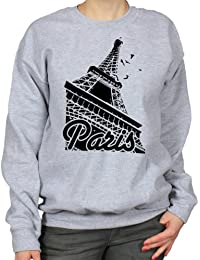 Paris Eiffel Tower France Travel Art Womens Sweatshirt