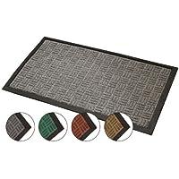 JVL Firth Carpet Rubber Backed Entrance Door Mat, Plastic, Grey, 40 x 70 cm