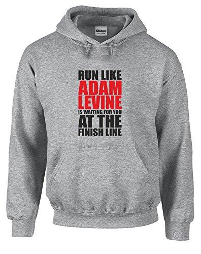 run-like-adam-levine-is-waiting-hoodie-imprime-gris-noir-rouge-l-106-111-cm