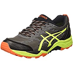 Asics Gel-Fujitrabuco 5 GTX, Zapatillas de Trail Running para Hombre, (Shark/Safety Yellow/Black), 42 EU