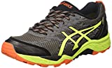 ASICS Herren Gel-Fujitrabuco 5 G-TX Trail Running Schuhe, Mehrfarbig (Shark/Safety Yellow/Black), 42 EU