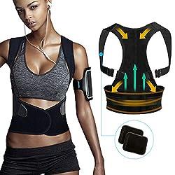 Tencoz Haltungskorrektur Geradehalter, Haltungskorrektur für Eine Bessere Körperhaltung und Unterstützung des Rückens für Damen und Herren, L (Bust: 85-95cm)