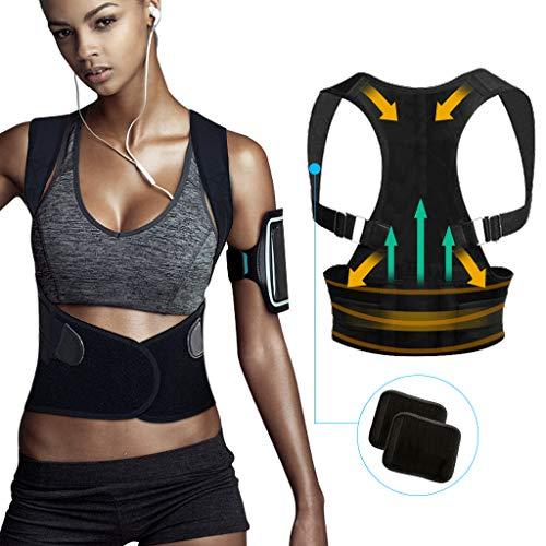 Tencoz - Corrección de Postura Bust Ajustable, Apoyo Espinal Superior Unisex para Espalda, Hombros y Cuello Alivio del Dolor, 85-95cm, M