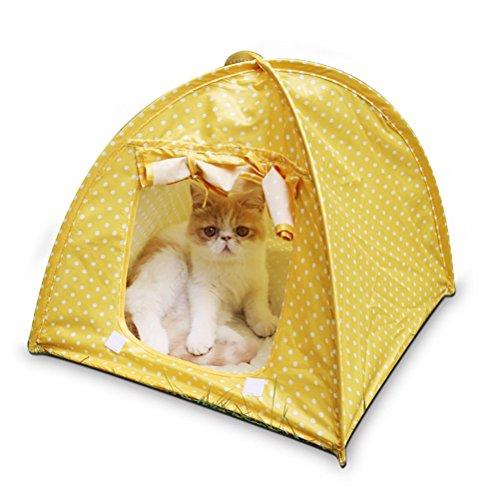 Ueetek morbido casa per cane gatti animali tenda per animali di piccola taglia (giallo)
