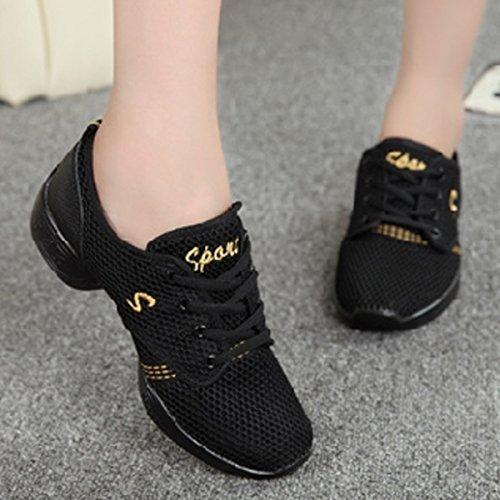 Chnhira Ladies Sneaker Jazzdance Scarpe Fitness Scarpe Basse Scarpe Sportive Nere