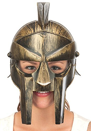 Plastic Spartan Helmet (Gold)