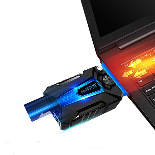 KKmoon Cool Cold Notebook Low Noise Kühler für Computer Notebook USB Kühler Lüfter-Kühlung mit Ventilator A Vakuum-Spiel -