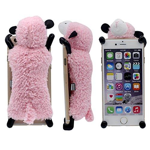 iPhone 6S Plus Coque, Conception Novel intéressant Doux Cutton Mouton Jouet Serie Divers Couleur Housse de Protection Case pour Apple iPhone 6 Plus / 6S Plus 5.5 inch rose