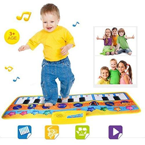 Sonnena Spielzeug, Baby Kinder Karikatur Instrument Musikteppich Keyboard Teppich Touch Play Keyboard Klaviermatte Musical Gesang Fitnessraum Matte Spielzeug Kinder Geschenk Musikinstrument (80 x 28cm)
