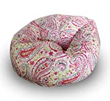 Paisley pattern digitally printed canvas bean bag with beans filled xxxl offer by Aart Amazon Rs. 1899.00