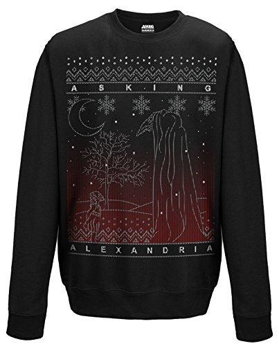 Asking Alexandria il nero Natale CSW Schwarz XL