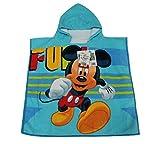 disney- poncho accappatoio con cappuccio piscina mare topolino mickey mouse 50 x 100 cm