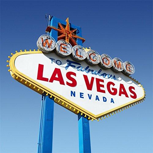 YongFoto 3x3m Vinyl Foto Hintergrund Willkommen in Las Vegas Stadt Natur Fotografie Hintergrund für Fotoshooting Portraitfotos Party Kinder Hochzeit Fotostudio Requisiten