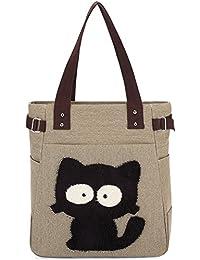 Canvas Reisetasche Handtaschen KAUKKO Shopper Taschen Umhängetasche Damen Handbag Schultertasche