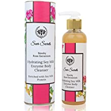 Seer Secrets Smoky Rose Geranium Hydrating Soy Milk Enzyme Body Cleanser with Rose Extract & Geranium Essential Oil (250ML)