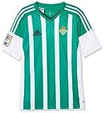 adidas H JSY Y Camiseta Real Betis Balompie 2015-2016, Niños, Verde/Blanco (Custom/Print), 140