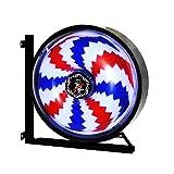 GYDD Poste de Barbero Rotating Lighting Lámpara de Pared Windmill LED Round Light (Color : C, Tamaño : S)