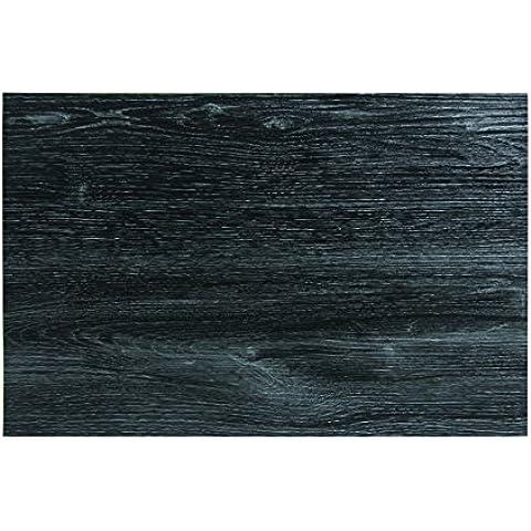 Novastyl 8010397 - Set di 12 tovagliette in melamina, effetto legno, 45 x 30 x 0,1 cm, colore: nero