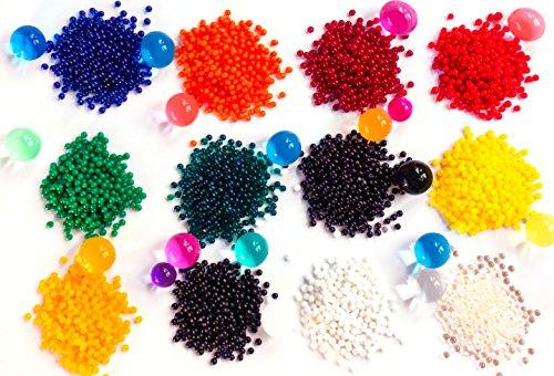 Zenball 4.500 Wasserperlen Aqualinos Perlen Gelperlen in 12 Farben | nach Farben getrennt | 4.500 Stück (Weiße Blumen In Vase)