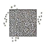 25 kg Splitt Quarzit Grau Ziersplitt Deko Dekoration Splitt Zierkies Körnung 8/11 mm