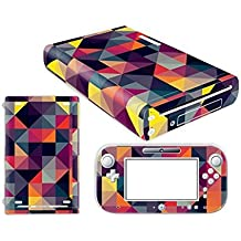 Linyuan Skin Sticker Decal Cover Case 0121# para Nintend WII U Console And Controller