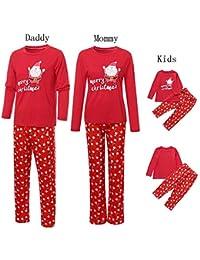 c040188f0a08e Pitashe Pyjama de Noel Famille Pyjamas Vêtements de Famille pour Homme  Femme Enfant Fille Garçon Bébé