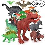 Sonnedorf Dinosaurier Spielzeug,20 Stück Dinosaurier Figuren Set, Mini Dinos Figuren Party für Kinder