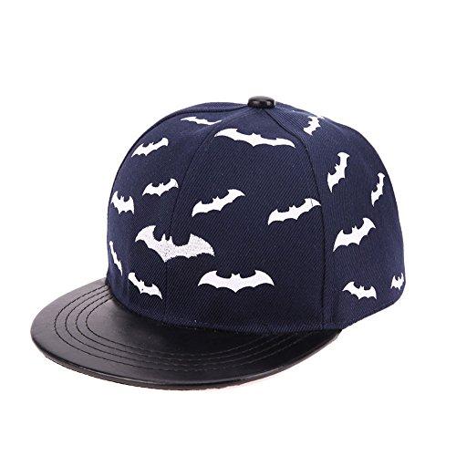 Baby Baseball Cap Children Boy Girl Snapback Cap Kid Hiphop Hat(Navy Blue)