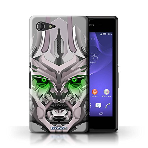 Kobalt® Imprimé Etui / Coque pour Sony Xperia E3 / Bumble-Bot Rouge conception / Série Robots Mega-Bot Vert