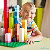 Katara 1739 - Große Platte Bauplatte, Kompatibel Lego, Simba Blox, MY, Q-Bricks 51cm x 26cm x 2cm, Rechteckig, Grau