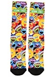 Adult Sesame Street Characters All Over Sublimated Socks Standard