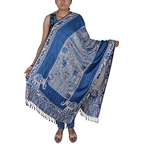 Indian Elephant sciarpa - bella scialle paisley stampa animalier per