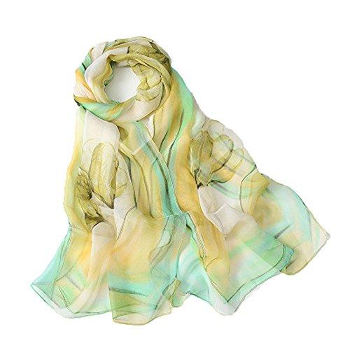 WZTP Emulación pañuelos seda Mujer Mantón Bufanda