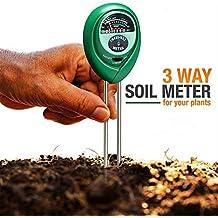 Comprobador de medidor de pH, Umiwe 3 en 1 probador de suelo medidor de humedad