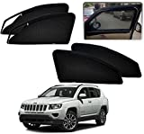 #1: Auto Pearl - Premium Quality Zipper Magnetic Sun Shades Car Curtain For - Jeep Compass - Set of 4 Pcs